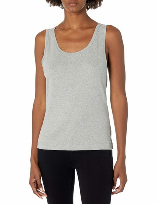 Three Dots Women's Essential Scoop Neck Tank top as a Layering Piece