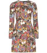 jennifer lopez  Who made  Jennifer Lopezs butterfly print long sleeve dress?