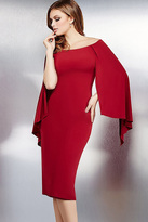 Jovani Cape-style Sleeve Off The Shoulder Sheath Dress 36348