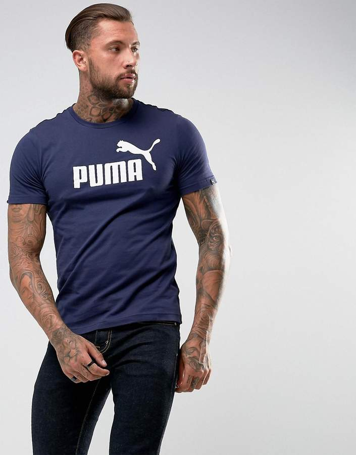 Puma ESS No.1 T-Shirt In Navy 83824106