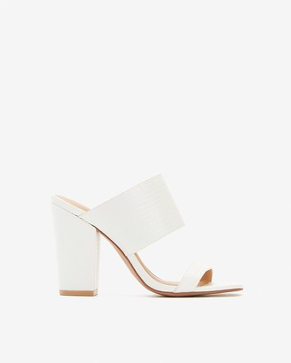 Express Thick Double Band Block Heel Sandals
