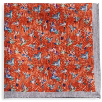 Saks Fifth Avenue COLLECTION Hummingbird Silk Pocket Square