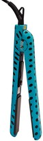 Brilliance New York Diamond Technology 1.25 Ceramic Flat Iron - Turquoise & Black Polka Dots