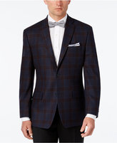 MICHAEL Michael Kors Men's Classic-Fit Navy Plaid Sport Coat
