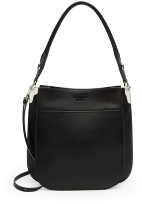Prada Margit Leather Hobo Bag