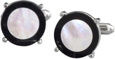 Johnston & Murphy Mother-Of-Pearl With Black Border Cufflinks