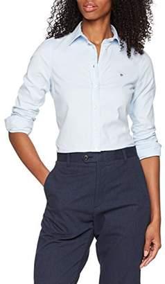Gant Women's Stretch Oxford Solid Shirt, (Light Blue), 10 (Size: )
