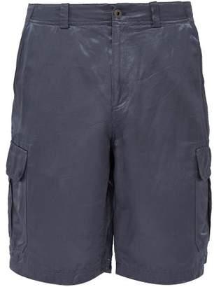 Sies Marjan Elias Washed Satin Cargo Shorts - Mens - Blue