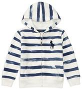 Ralph Lauren Boys' Terry Striped Hoodie - Little Kid