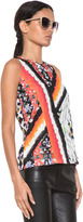 Peter Pilotto Stamp Top in Gio Leaf