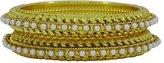 Matra Indian Women Traditional 2 Pcs Kada Bangle Set Wedding Bracelets New Jewelry