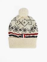 Thom Browne Fair Isle Beanie Hat