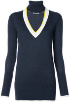 Tome open V neck knitted top - women - Wool - XS
