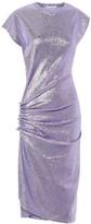Paco Rabanne Stretch metallic midi dress