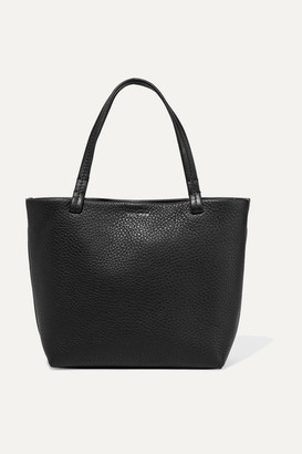 The Row Park Small Textured-leather Tote - Black