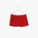 Madewell Bedtime Pajama Shorts in Llama-Rama