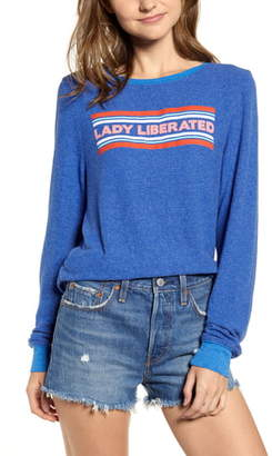 Wildfox Couture Lady Liberated Baggy Beach Jumper Sweatshirt