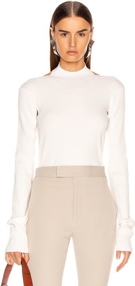 Helmut Lang Stretch Open Back Sweater in Ecru | FWRD