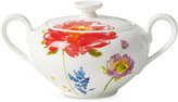 Villeroy & Boch Amnut Flowers Collection Bone China 2-Pc. Covered Sugar Dish