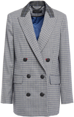 Rag & Bone Double-breasted Houndstooth Wool-blend Felt Blazer