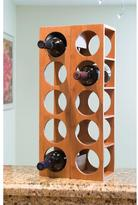 Lipper 4.75 in. x 20.75 in. x 5.37 in. Bamboo 5 Bottle Stackable Wine Rack