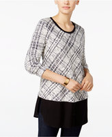Style&Co. Style & Co. Plaid Layered-Look Top, Only at Macy's