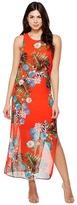 Vince Camuto Sleeveless Havana Tropical Maxi Dress w/ Slits Women's Dress
