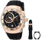 Technomarine Cruise One Swiss Unisex Quartz Watch with Black Dial Chronograph Analog Display and Black Silicone Strap 114039