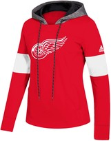adidas Women's Red Detroit Red Wings Crewdie Pullover Hoodie