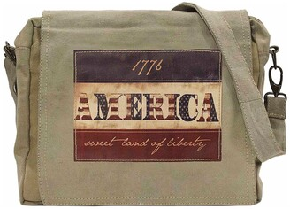 Vintage Addiction 1776 Flag Recycled Military Tent Crossbody