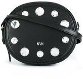 No.21 crystal embellished crossbody bag
