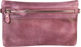 Purple Leather Convertible Clutch