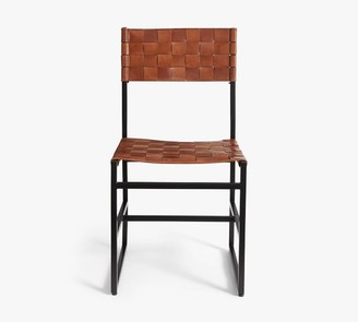 Pottery Barn Hardy Woven Leather Dining Chair