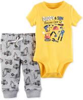 Carter's 2-Pc. Cotton Building Crew Bodysuit & Jogger Pants Set, Baby Boys