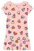 Moschino Kid-Teen Pale Pink Heart Print Drop Waist Jersey Dress