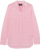 J.Crew Boy Gingham Crinkled-cotton Shirt - Pink