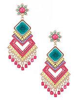 Natasha Accessories Fiesta Statement Chandelier Earrings