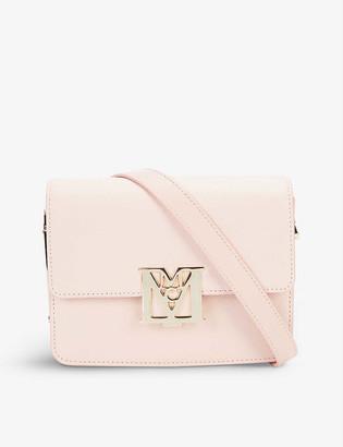 MCM Mena Visetos mini logo-buckle leather shoulder bag