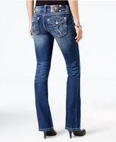 Miss Me Stitched Medium Blue Wash Bootcut Jeans
