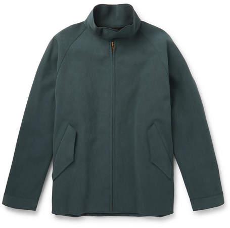 Camoshita Faux Suede Blouson Jacket