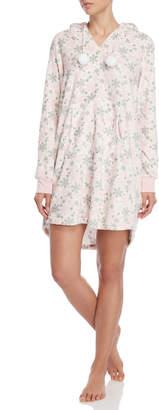 Pillow Talk Fleece Plush Hooded Nightgown