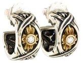 Lagos Diamond Two-Tone Hoop Earrings