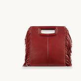 Maje Leather bag with fringing