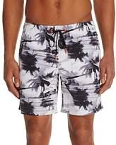 Sundek Palm Tree Print Swim Trunks