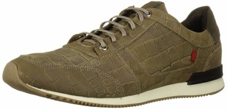 Marc Joseph New York Men's Leather Made in Brazil Luxury Fashion Trainer Croco Detail Sneaker