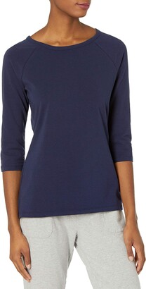 Hanes Womens Stretch Cotton Raglan Sleeve Tee Shirt