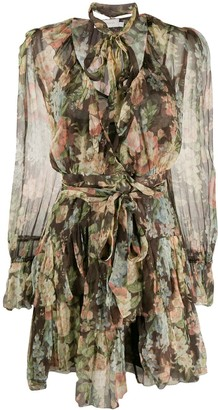 Zimmermann Espionage ruffle wrap dress