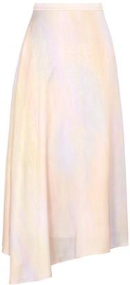 Vince Printed satin midi skirt