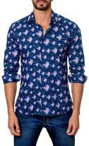 Jared Lang Mixed Print Long Sleeve Trim Fit Shirt