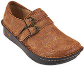 Alegria Leather Slip-ons with Double Buckles - Alli